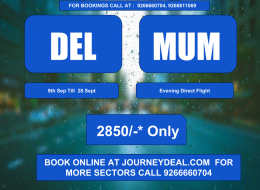 delhi mumbai flight ticket