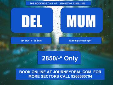 delhi mumbai flight ticket